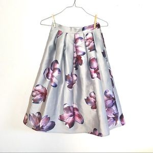 a'gaci Skirts - A'Gaci Silver Floral A Line Skirt